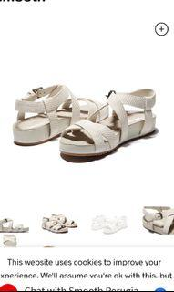 Timberland羅馬白涼鞋(8.5號/41號/25.5號)