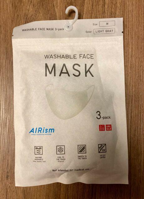 Uniqlo airism mask gray M, per piece