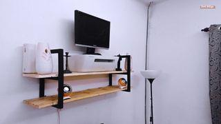 Uthman Industrial Wall Rack Minimalist Vintage Retro Viral Modern Furniture Concept