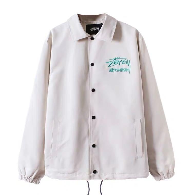 2020新品 Stussy刺繡教練外套
