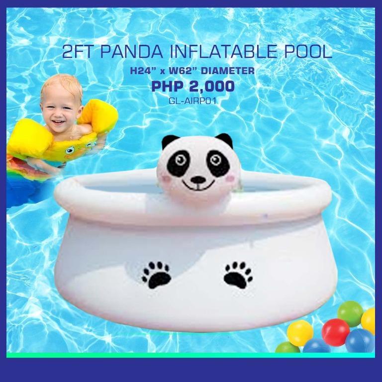 2 Ft Panda Inflatable Pool
