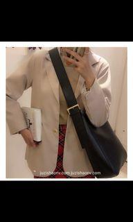 韓版側背可調節子母包