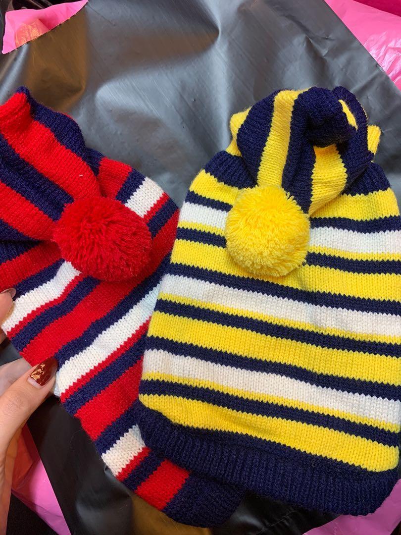 條紋連帽毛衣