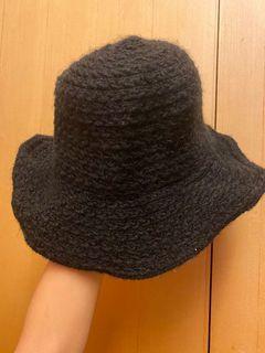毛呢寬帽沿名媛氣質帽