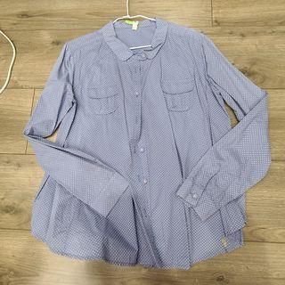 a la sha 藍色點點襯衫