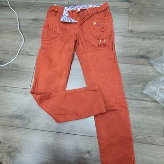 a la sha 紅色長褲