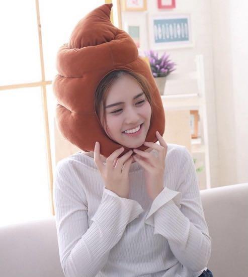 Buy 1 Take 1 Funny Poop Headgear Plush Costume Hats