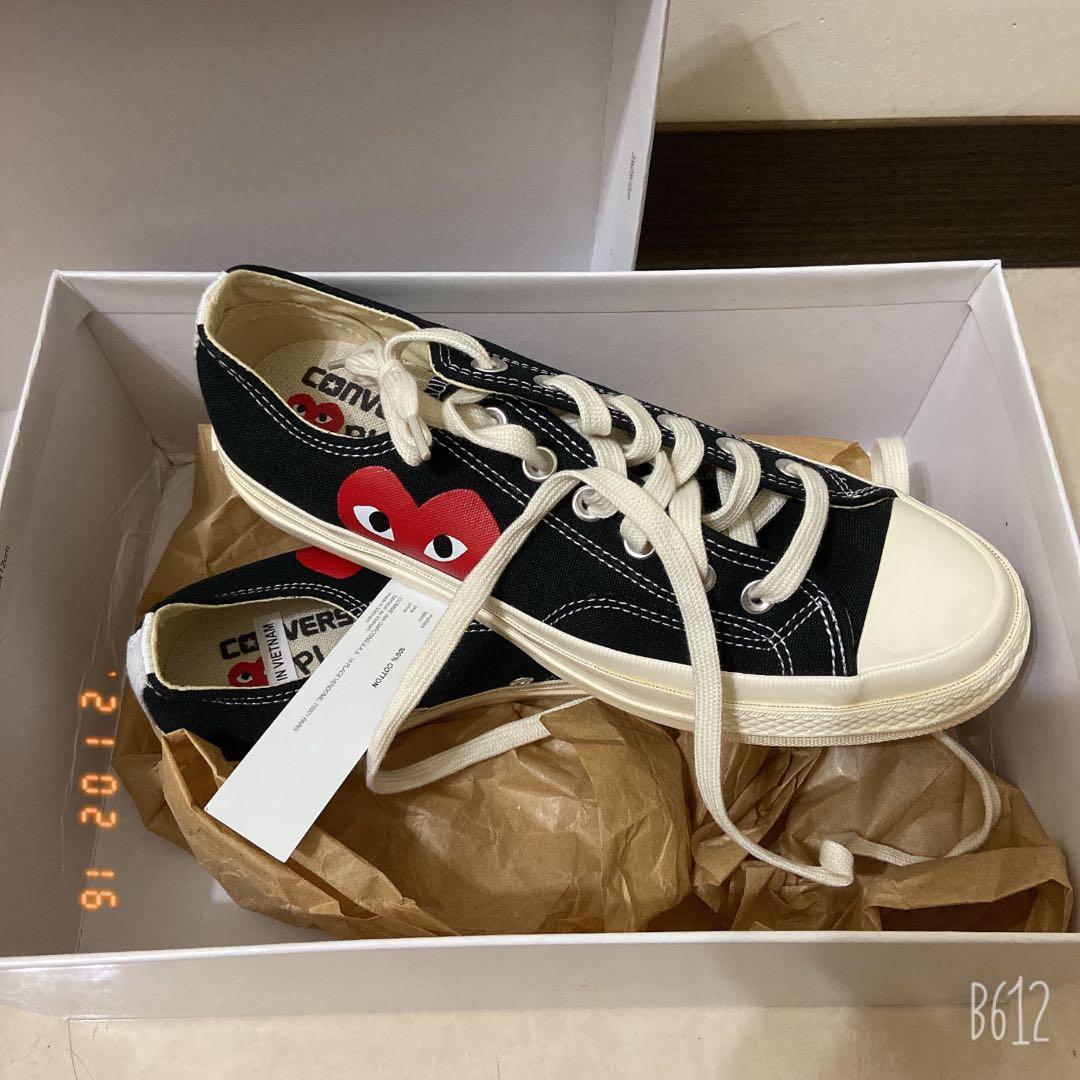 Converse x 川久保玲聯名低筒帆布鞋 黑