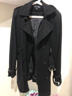 Forever 21 wool blend coat , long coat , wool coat , forever21 winter coat