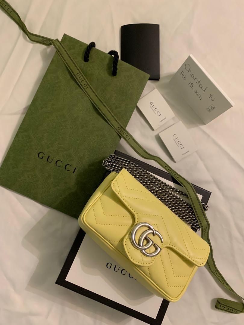Gucci Super Mini Marmont in Yellow