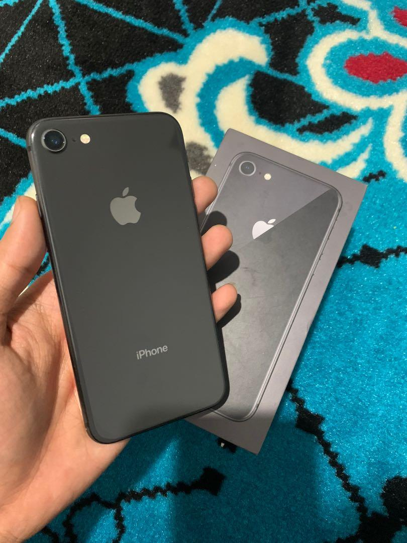 iPhone 8 256gb grey ex resmi apple