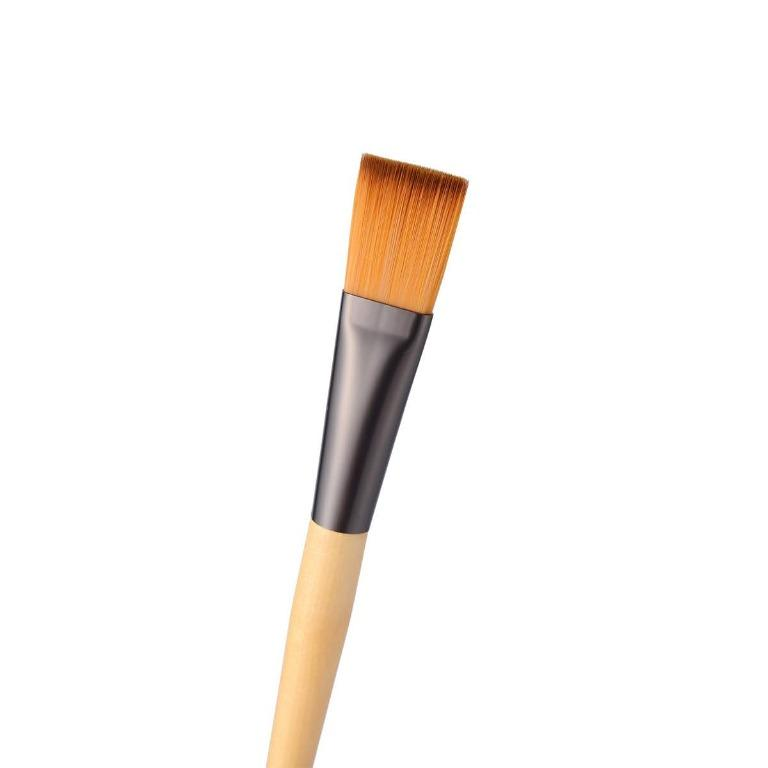 IUIGA Face Mask Applicator Brush (Artificial Fibre & Aluminium & wood) | With Soft Flat Bristles