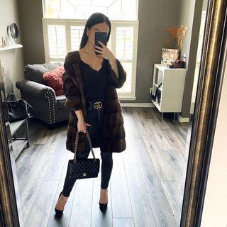 Kopenhageh Mink Fur Coat Size S 2-4, 36-38