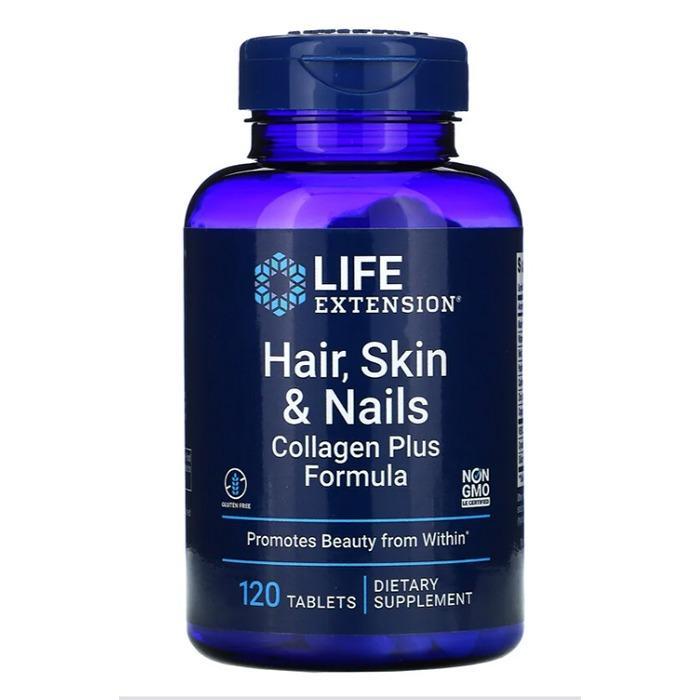 《預購》美國【Life Extension生命延長】膠原蛋白配方~美麗頭髮、皮膚、指甲(120片/瓶)特價$1200