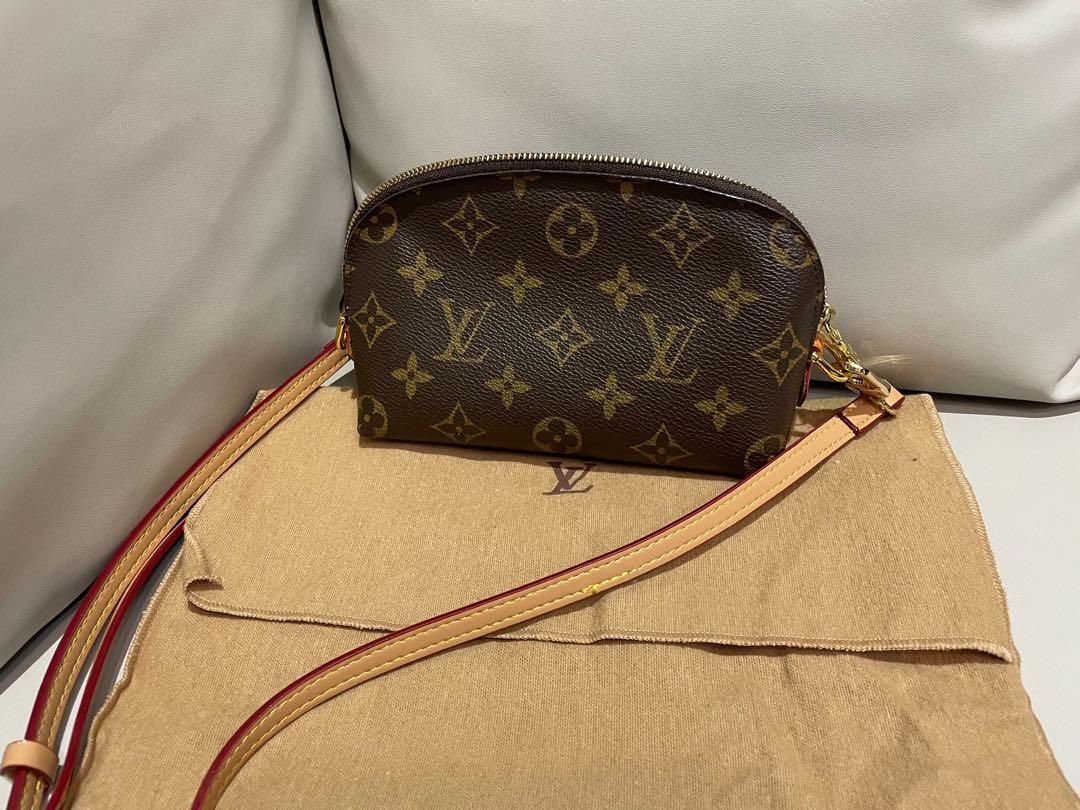 Louis Vuitton  Lv老花貝殼化妝包改肩背包