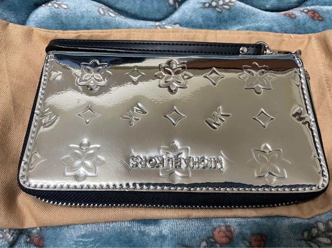 Michael Kors銀包漆皮中長夾