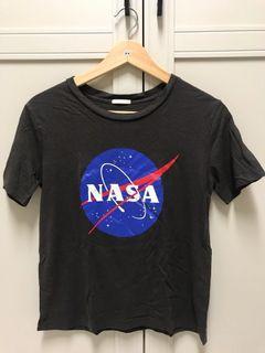 NASA 深灰短袖上衣踢恤T-shirt GU