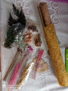 Satu set bahan kerajinan alam