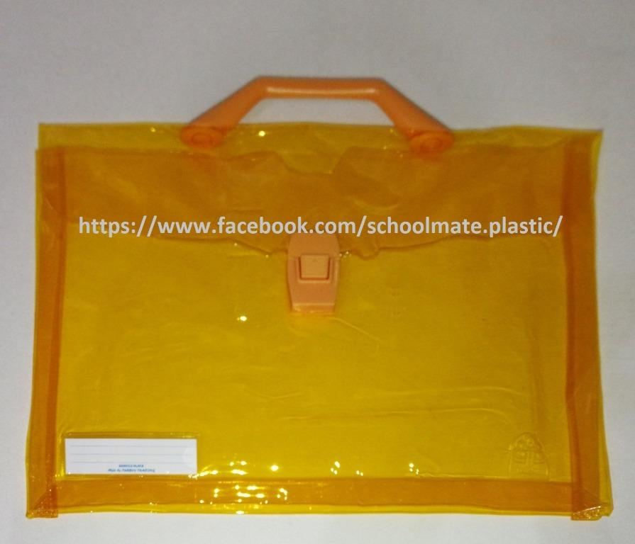 SCHOOLMATE® Expanding envelope Colored Long with handle & push lock (1pc)