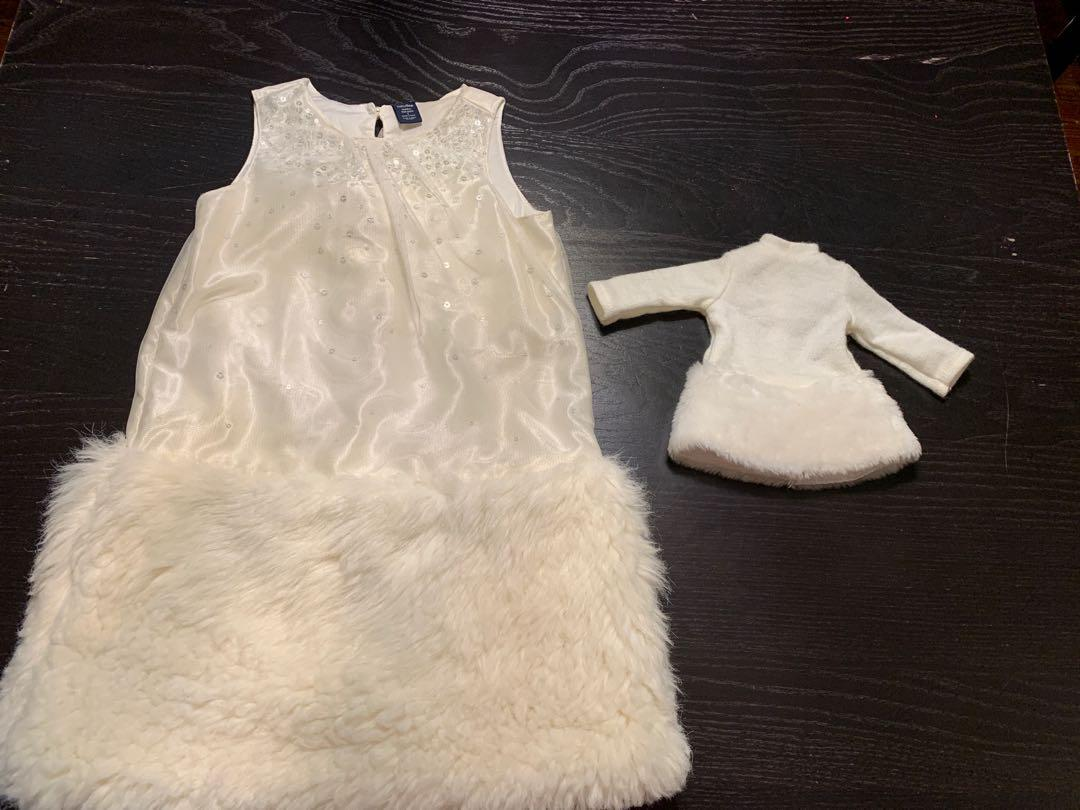 Size 5 dress with matching doll dress