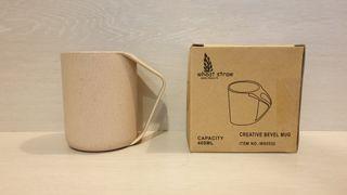 全新-Wheat Straw北歐風小麥創意馬克杯400ml/洗滌杯/小麥秸稈