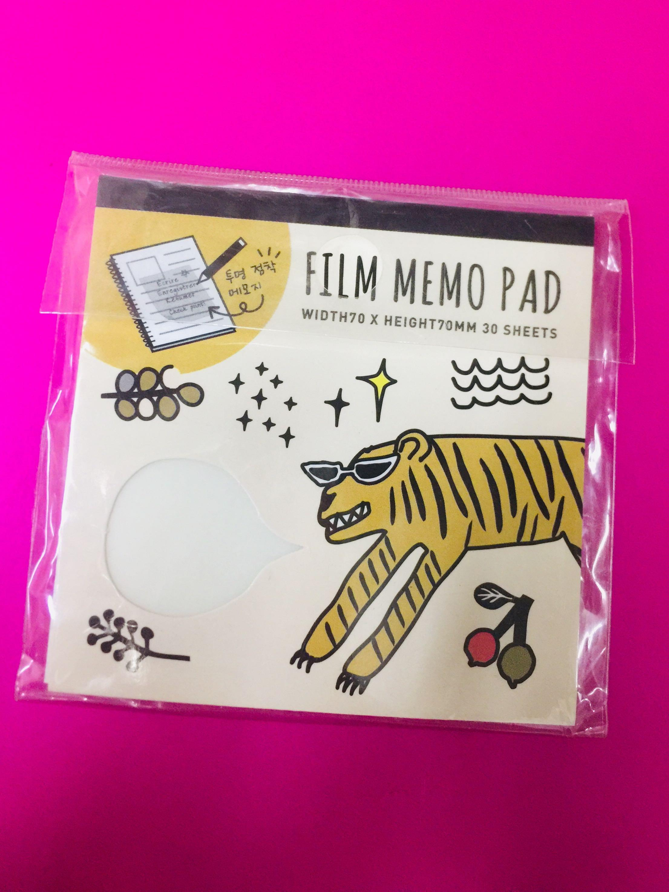 30 sheets Film Memo Pad