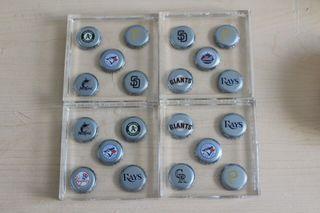 4 Limited Edition Baseball Coasters