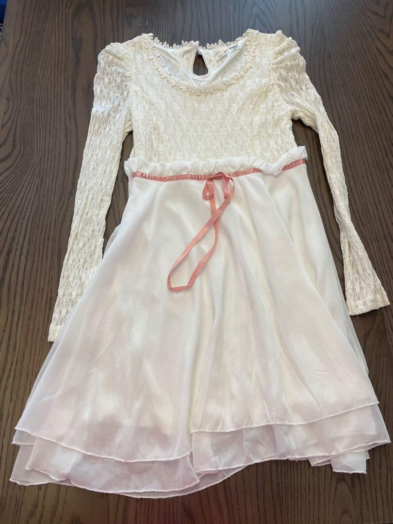 優雅蕾絲白色公主小禮服