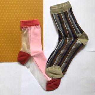 幾何透膚襪#開工#小旅行