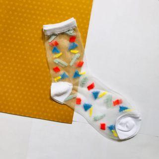 點點透膚短襪🧦#收假