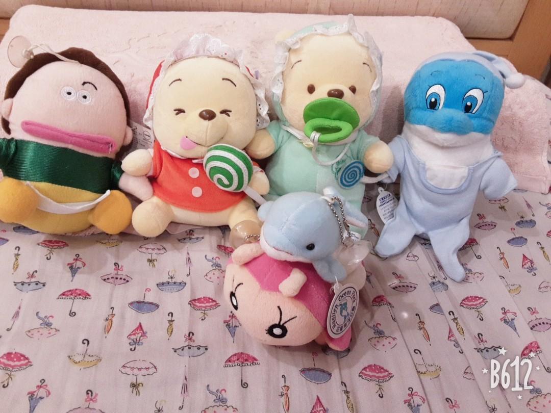 玩偶 娃娃 × 6隻 迪士尼系列 海洋公園 卡通花媽 大集合 #開工