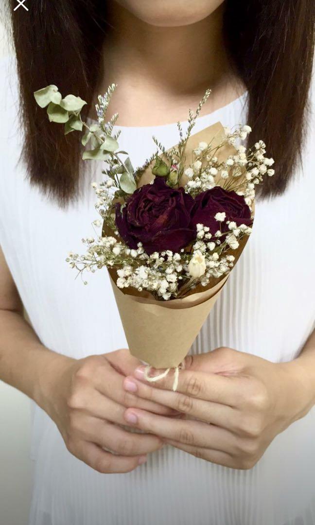 手作乾燥花花束體驗課程
