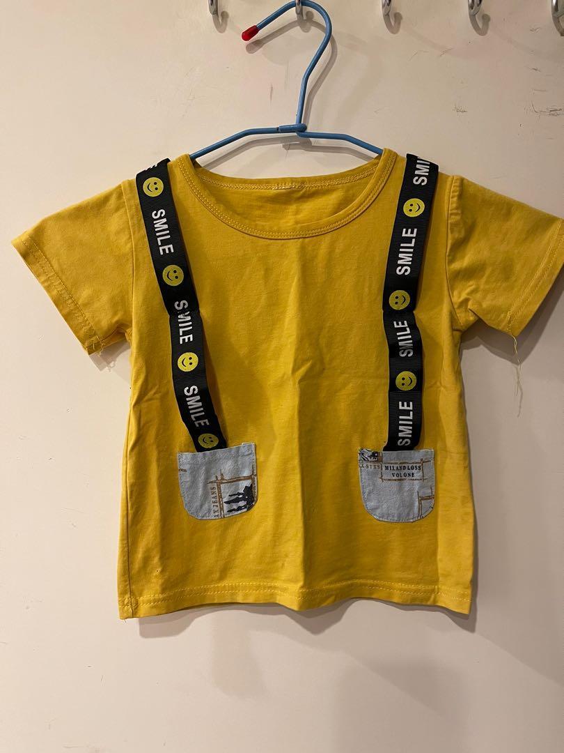 微笑 黃色上衣 T恤