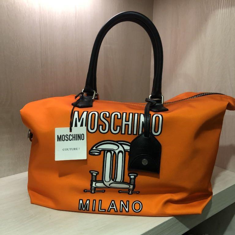 全新 Moschino 'Construction' 托特包 肩背包 Tote Orange