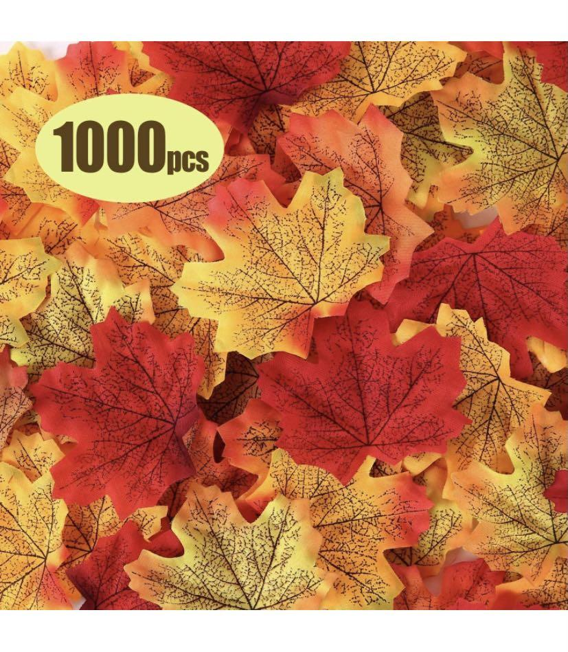 Brand new 1000 Pcs Fall Artificial Maple Leaves