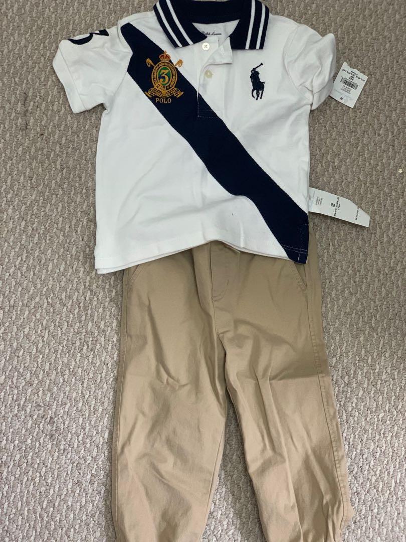 Brand new Ralph Lauren Polo infant boys 2 piece set 18m