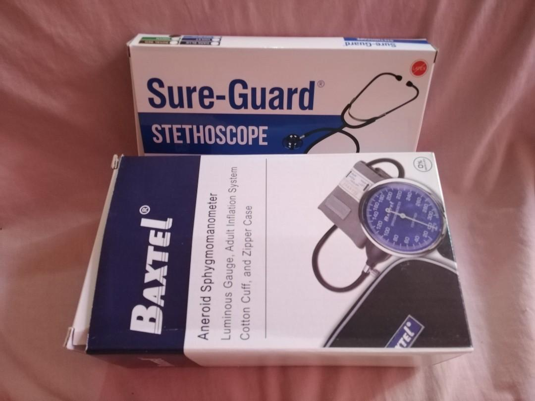 [BRANDNEW] Sure Guard Stethoscope and Baxtel Aneroid Sphygmomanometer for Blood Pressure (BP)