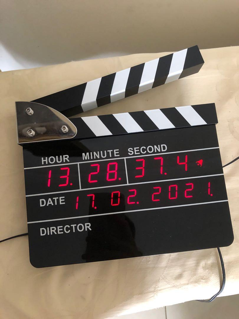 Clapperboard digital alarm watch