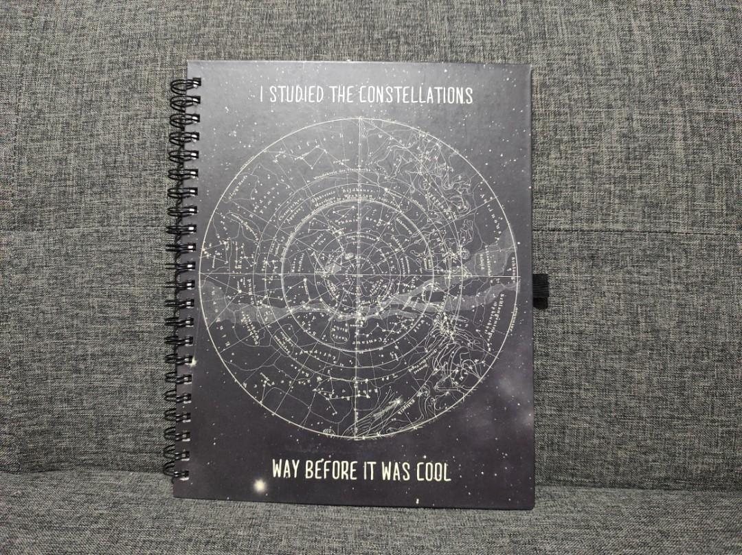 Constellation Typo Big Notebook