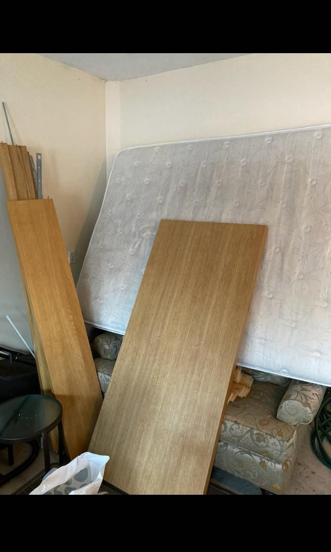 Free - pickup only - IKEA queen bed set + mattress + 2 pc couch