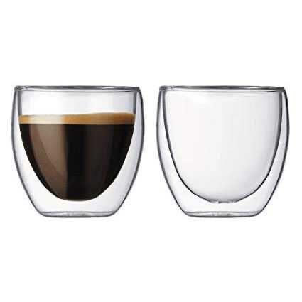 Gelas Anti Panas Double Wall Glass Insulated Cup 250ml