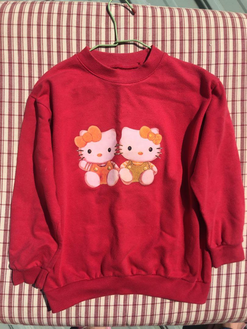 《童裝》粉紅hello kitty 上衣