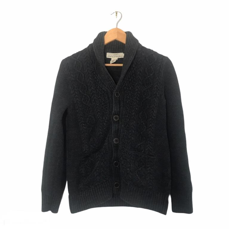 H&M Dark Navy Thick Knit Cardigan Size Small