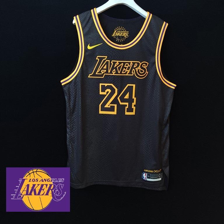 LA Lakers Black Mamba authentic Kobe Bryant NBA jersey, Men's ...