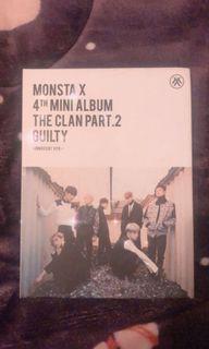 Monsta X 第四張迷你專輯 THE CLAN PART.2 GUILTY 空專