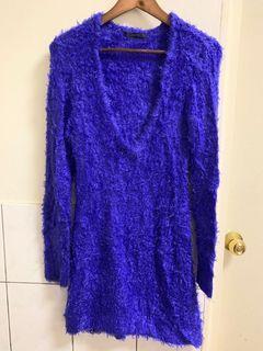 🔥日本moussy 真品全新紫色毛海毛衣洋裝🔥