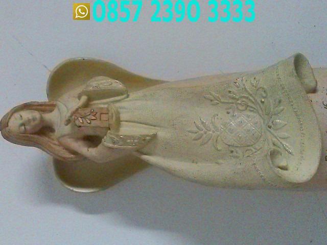 Patung Malaikat Bersayap Krem Coklat FWB1831