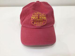 POLO JEANS COMPANY- RALPH LAUREN復古刷色鴨舌帽