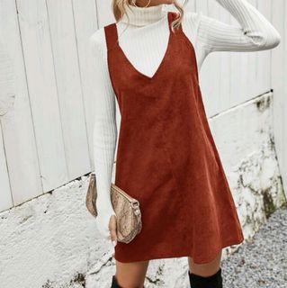 Shein Solid Pinafore jumper dress