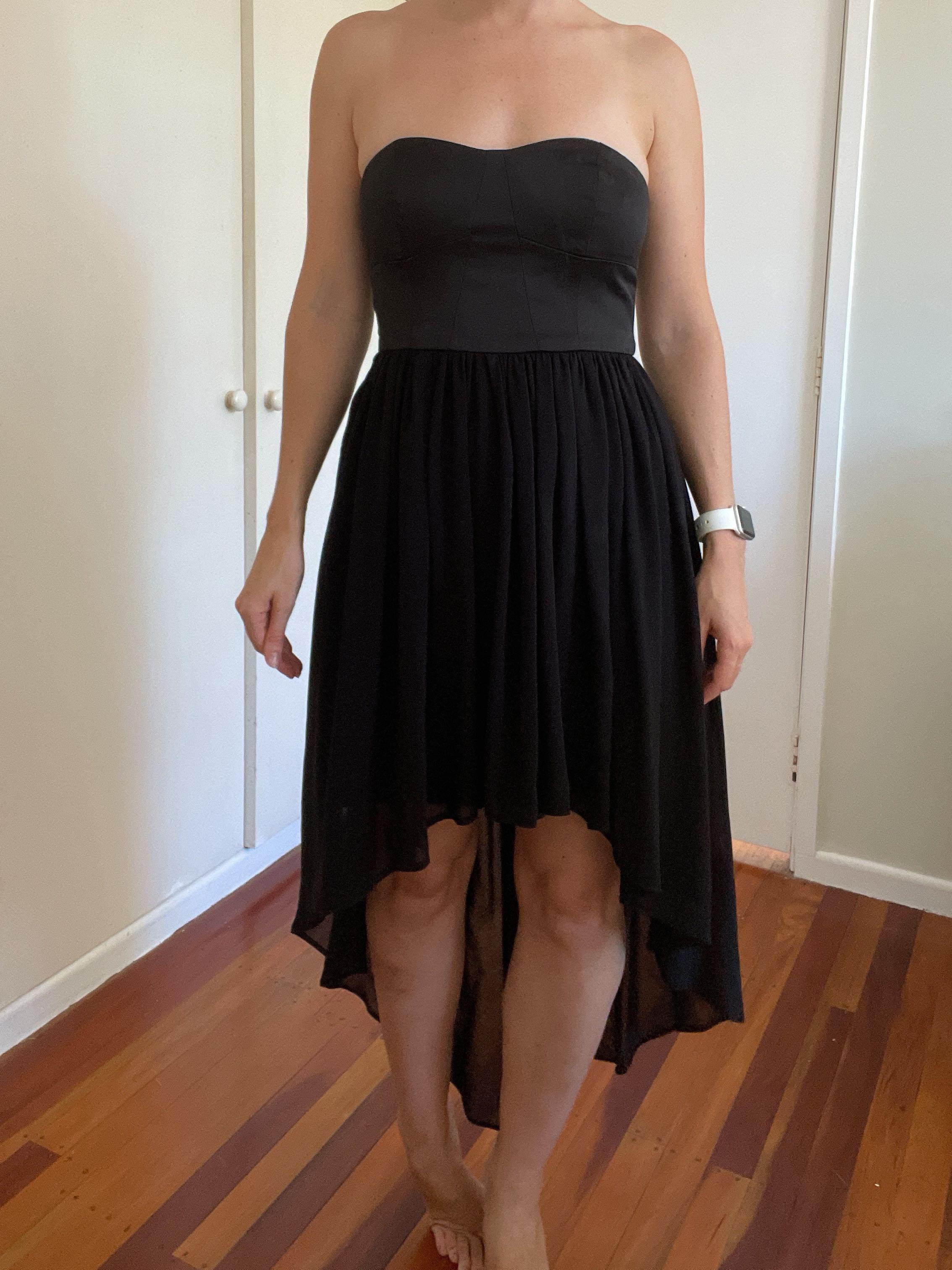 Strapless Black Dress, Size 8